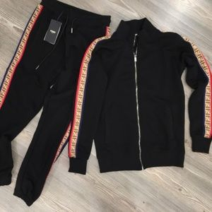 FENDI MEN TRACK SUIT NEW WITH TAGS SIZE SMALL